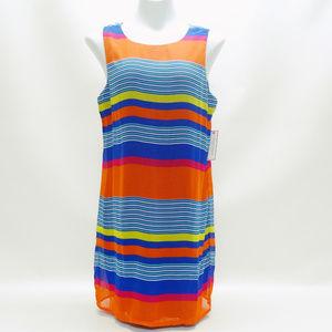 BISOU BISOU Multi-Colored Striped Dress